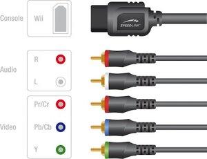 Speedlink SL-3414-SBK COMPONENT Cable - für Nintendo Wii U/Wii,