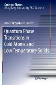 Quantum Phase Transitions in Cold Atoms and Low Temperature Soli