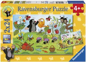 Ravensburger 08861 - Der Maulwurf im Garten, 2 x 24 Teile Puzzle