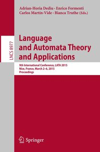 Language and Automata Theory and Applications