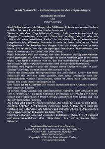 Rudi Schuricke - Erinnerungen an den Capri-Sänger
