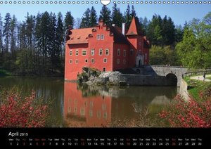Czech Republic historic buildings (Wall Calendar 2015 DIN A3 Lan
