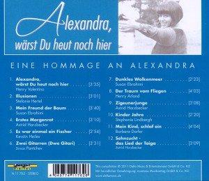 Alexandra,wärst Du heut noch hier-eine Hommage