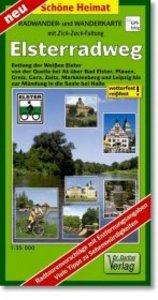 Elsterradweg Radwander- und Wanderkarte 1 : 35 000