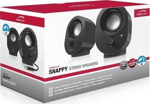 Speedlink SNAPPY Stereo Speakers, Lautsprecher, schwarz