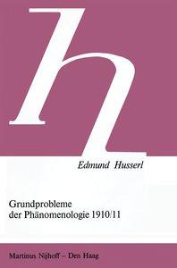 Grundprobleme der Phänomenologie 1910/11