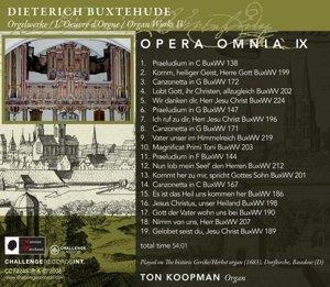 Opera Omnia IX,Organ Works 4