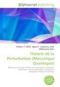 Théorie de la Perturbation (Mécanique Quantique)