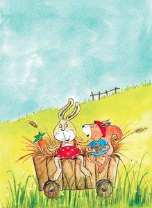Zwei Freunde. Postkarten