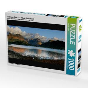 Panorama, Glen Coe Village, Schottland 1000 Teile Puzzle quer