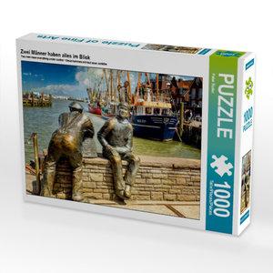 Zwei Männer haben alles im Blick 1000 Teile Puzzle quer