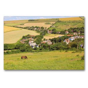 Premium Textil-Leinwand 90 cm x 60 cm quer West Lulworth Dorset