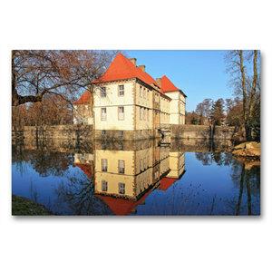 Premium Textil-Leinwand 90 cm x 60 cm quer Wasserschloss Strünke