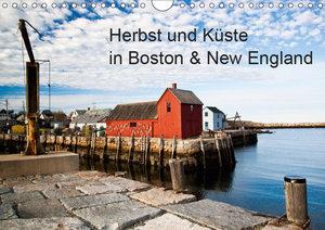 Herbst und Küste in Boston & New England (Wandkalender 2019 DIN