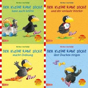 Maxi-Pixi Serie Nr. 57: 4er Bundle: Rabe Socke