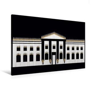 Premium Textil-Leinwand 120 cm x 80 cm quer Weißes Haus, USA