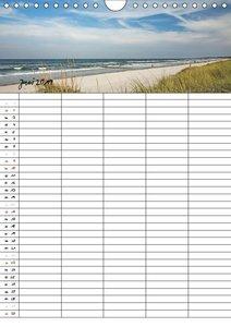 Urlaubsparadies Fischland Darß - Familienplaner (Wandkalender 20