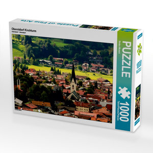 Oberstdorf Kirchturm 1000 Teile Puzzle quer
