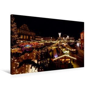 Premium Textil-Leinwand 90 cm x 60 cm quer Weihnachtsmarkt in Go