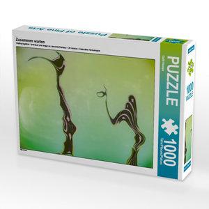 Zusammen warten 1000 Teile Puzzle quer