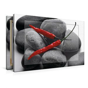 Premium Textil-Leinwand 90 cm x 60 cm quer Hot Chili