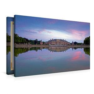 Premium Textil-Leinwand 90 cm x 60 cm quer Wasserschloss Nordkir