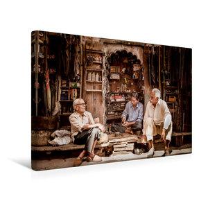 Premium Textil-Leinwand 45 cm x 30 cm quer Schirmflicker in Jodh