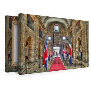 Premium Textil-Leinwand 45 cm x 30 cm quer Panteon Nacional * Na