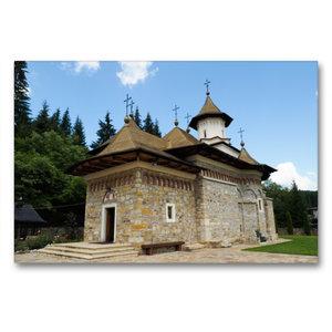 Premium Textil-Leinwand 90 cm x 60 cm quer Kloster Sihastria Put