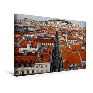 Premium Textil-Leinwand 45 cm x 30 cm quer Stadtblick vom Elevad