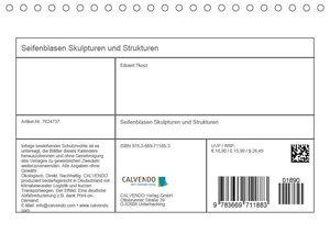 Seifenblasen Skulpturen und Strukturen (Tischkalender 2019 DIN A