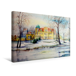 Premium Textil-Leinwand 45 cm x 30 cm quer Schloss Gundorf