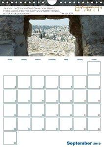 Jerusalem Kalender mit Bibelworten und Planer! (Wandkalender 201