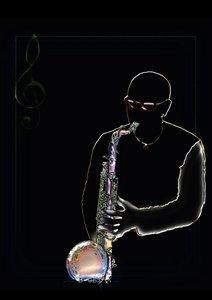 Jazz im Herzen (Tischaufsteller DIN A5 hoch)