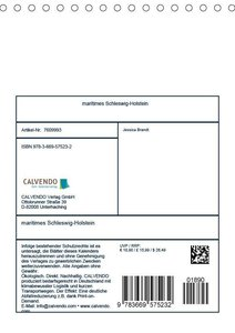 maritimes Schleswig-Holstein (Tischkalender 2019 DIN A5 hoch)
