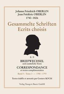Johann Friedrich OBERLIN 1740-1826 Gesammelte Schriften, Band 3