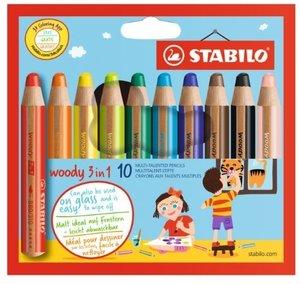 STABILO woody 3 in 1 10er Etui