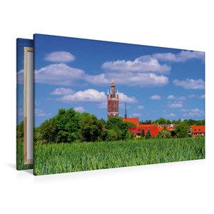 Premium Textil-Leinwand 120 cm x 80 cm quer Kirche St. Petri