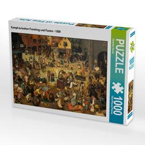 CALVENDO Puzzle Kampf zwischen Fasching und Fasten - 1559 1000 T