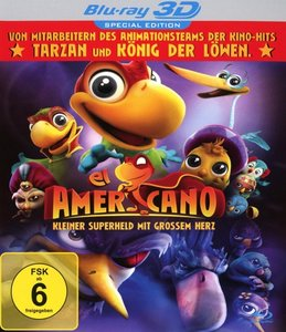 El Americano 3d-Kleiner Superheld Mit Grossem