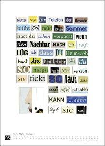 Herta Müller: Collagen 2019 - Poster-Kalender - Format 49,5 x 68