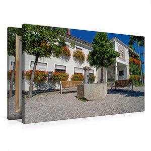 Premium Textil-Leinwand 75 cm x 50 cm quer Rathaus Kirchheim bei