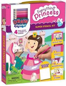 Drawmaster Princess and Unicorn: Super Stencil Kit: 4 Easy Steps