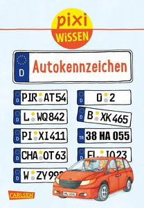 Pixi Wissen 102: VE 5 Autokennzeichen