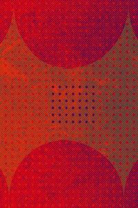Premium Textil-Leinwand 80 cm x 120 cm hoch Punkte und Quadrat,