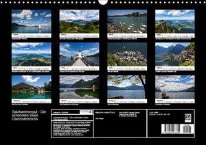 Salzkammergut - Die schönsten Seen Oberösterreichs (Wandkalender