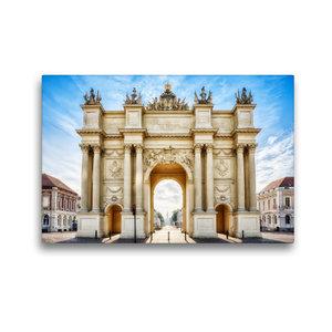 Premium Textil-Leinwand 45 cm x 30 cm quer Brandenburger Tor in