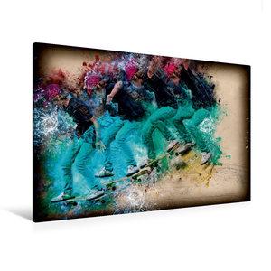 Premium Textil-Leinwand 120 cm x 80 cm quer Skateboarding