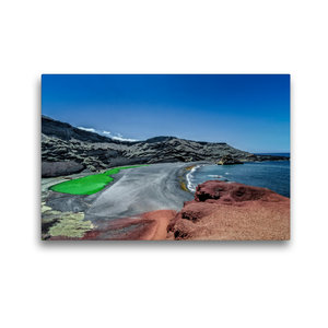 Premium Textil-Leinwand 45 cm x 30 cm quer Lanzarote - Meisterwe