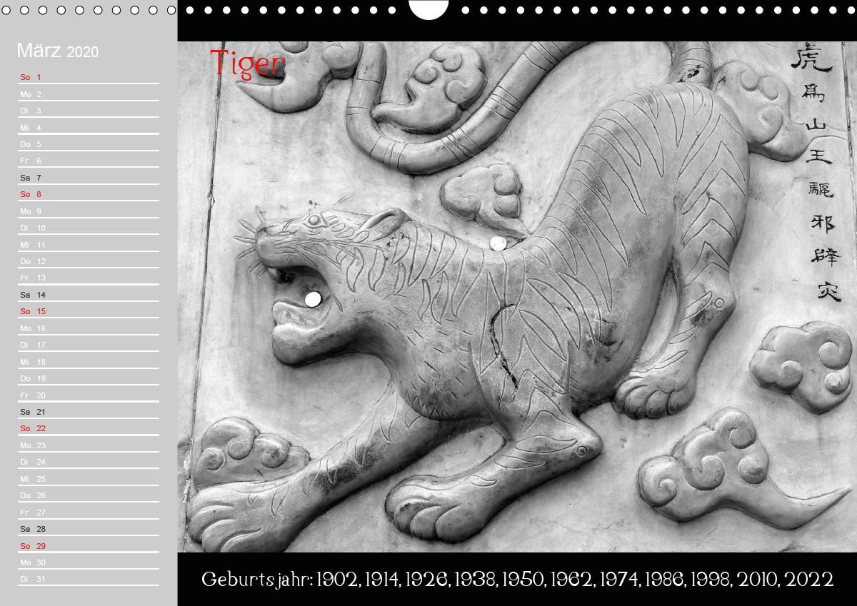 Das Chinesische Horoskop / Geburtstagskalender - zum Schließen ins Bild klicken
